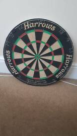 Harrows full size official competition dart board. Hardly used.