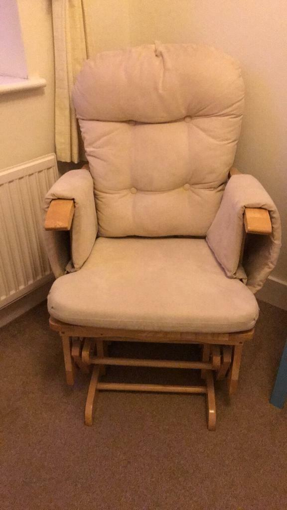 Rocking nursing chair & foot stool