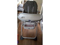 chico highchair grey colour, very good condition