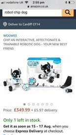 Interactive WowWee chip dog robotic