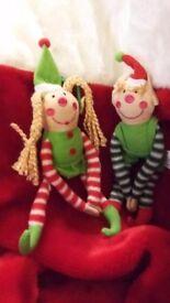 Cute pair of boy and girl elves