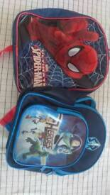 Small kids backpacks spider man and toy story