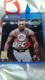 UFC3 FOR PS4