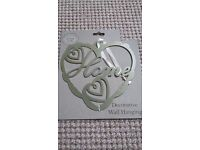 Silver/Gold Metal Heart Sign