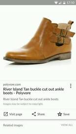 River island ankle boots size 8 / 41