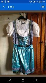 German Bavarian dress Drindl Oktoberfest UK14/16