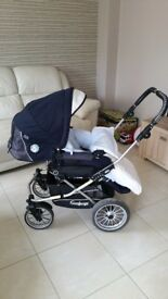 Emmaljunga Edge pram and buggy.