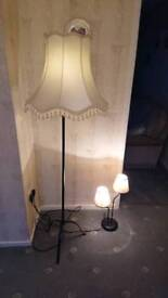 Wrought Iron lamp set
