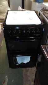 """Hotpoint """"HAG51K"""" Freestanding 50cm Gas Cooker in Black NEW RRP £379"""