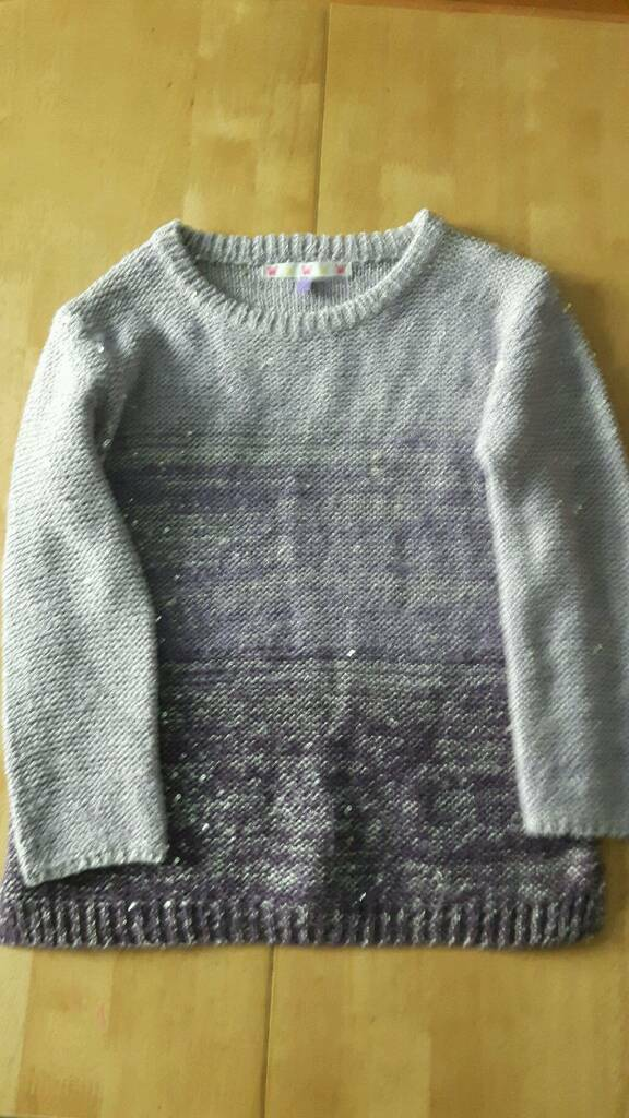 Girls John Lewis sparkly jumper age 7 years
