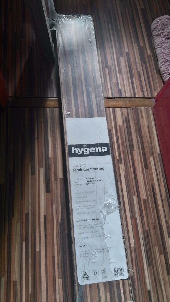 Hygena Zebrano Laminate Flooring In Gosport Hampshire Gumtree