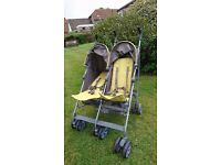 Mamas & Papas double buggie/twin stroller