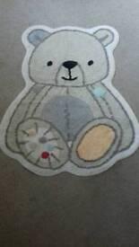 Bear Rug for Childrens room or kids nursery