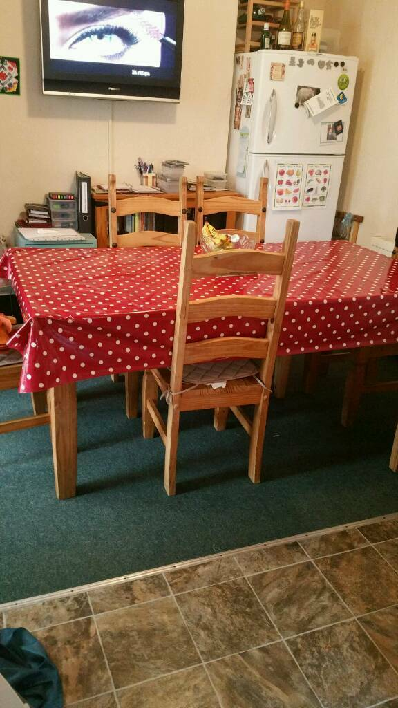 Solid 6 seater table n chairs