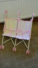 Baby born twin toy pram