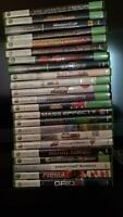 Xbox 360 with connect and 23 games one controller
