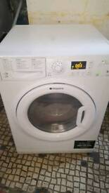 """""""FREE DELIVERY""""AS NEW""""HOTPOINT WASHER DRYER MACHINE WDPG864 serviced ready to go.£129.95 Offers Inv"""