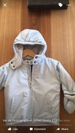 BNWT BABY BOYS WINTER COAT DE TERRE 6 mths
