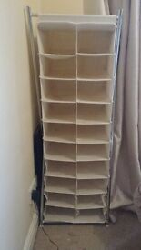 Argos Canvas Free Standing Shoe Storage Tower