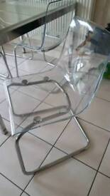 6 x clear acrylic/ plastic chairs