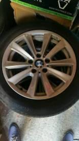 "Bmw 17"" alloy wheels with FREE run flat tyres. Alloys. Series 5. 225/55/17"