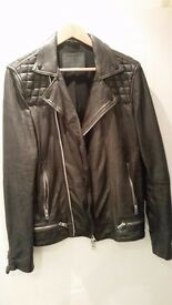 AllSaints Conroy Leather Jacket / Mens / Small