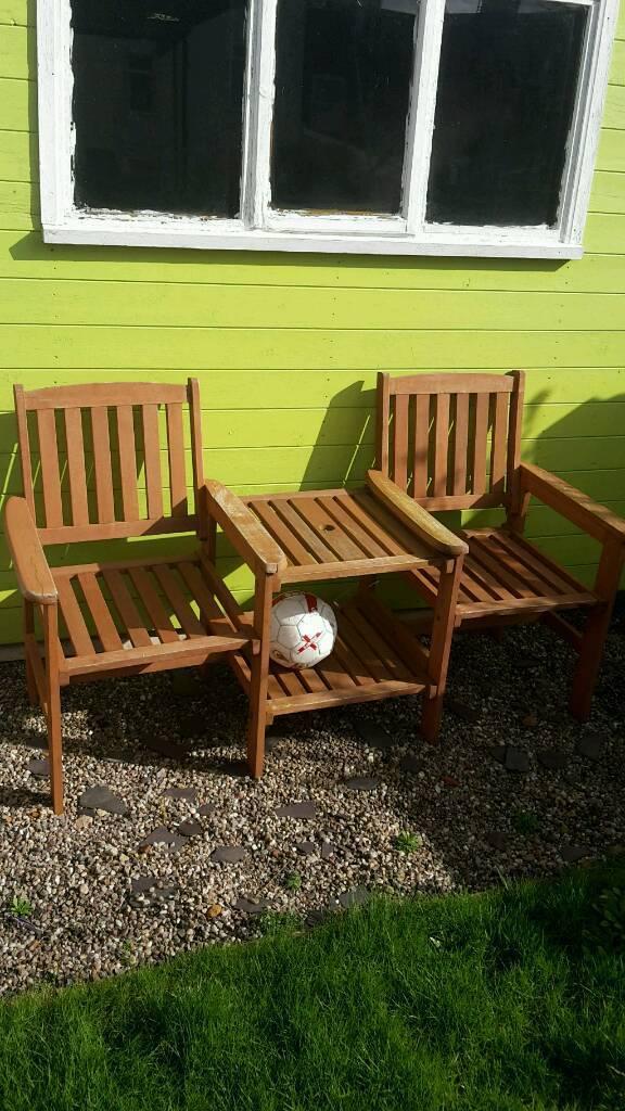 Garden Love Seat Bench Chair Table In Coalville