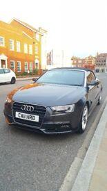 Audi A5 S Line Convertible TDI *B&O, DVD, Leather, Nav, BT phone*