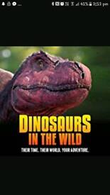 Dinosaurs in the wild **TONIGHT** event city Manchester.