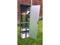 *SOLD* Stainless Steel Mirrored Bathroom Corner Cabinet with 4 Shelves