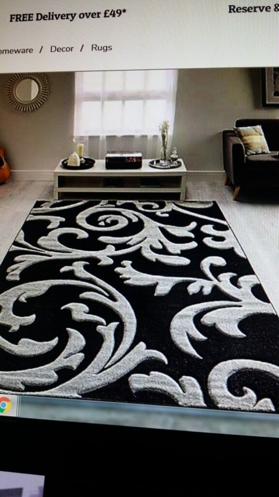 Charcoal Grey Rug Extra Large Dunelm Mill