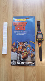 Nelsonic 1994 NINTENDO DONKEY KONG WRIST WATCH GAME Great Rare Vintage BRAND NEW BOXED