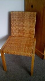 Ikea wooden chair with rattan effect seat & back VGC £5.00