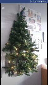 Wall mounted pre lit Christmas Tree