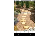 Broken bricks for garden landscaping