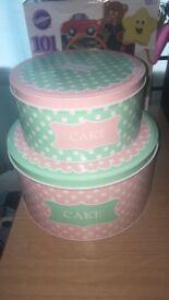 Lovely cake tins.
