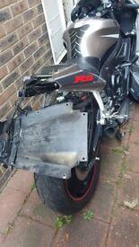 Yamaha R6 rear end damage