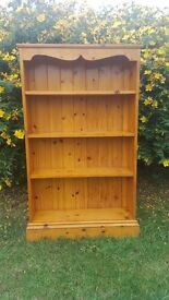 Pine free standing book case