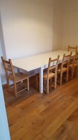 Large Family Table and 10 Chairs