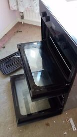 NEW AND UNUSED DIPLOMAT BLACK DOUBLE ELECTRIC OVEN AND GRILL PLUS ORIGINAL USER MANUAL
