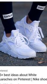 mens size 11 huaraches in white from JD brand new never worn