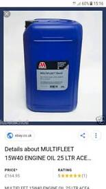 millers engine oil 75 litres x3 drums