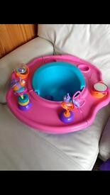 Pink feeding toy seat chair