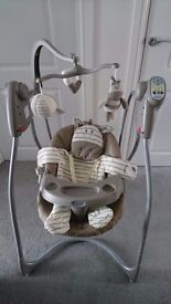 Graco ziggy zebra baby swing. Excellent condition.