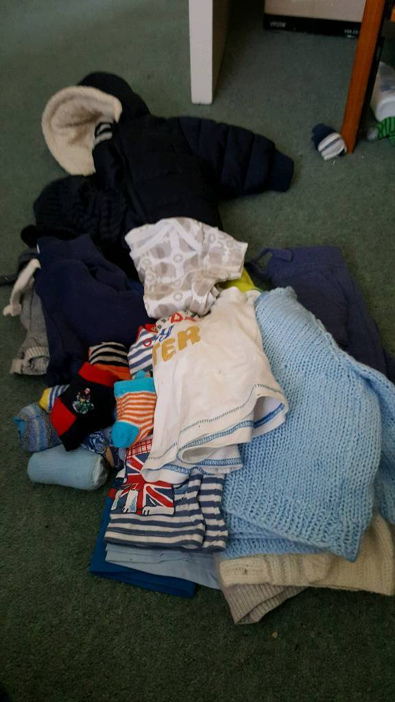 Baby boy clothes and shoes 0 to 3