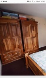 Jali Ladys and Gents wardrobe with kindsized bed
