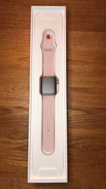 Apple Watch Series 3 38mm Gold Aluminum Pink Sand Sport Band (GPS)