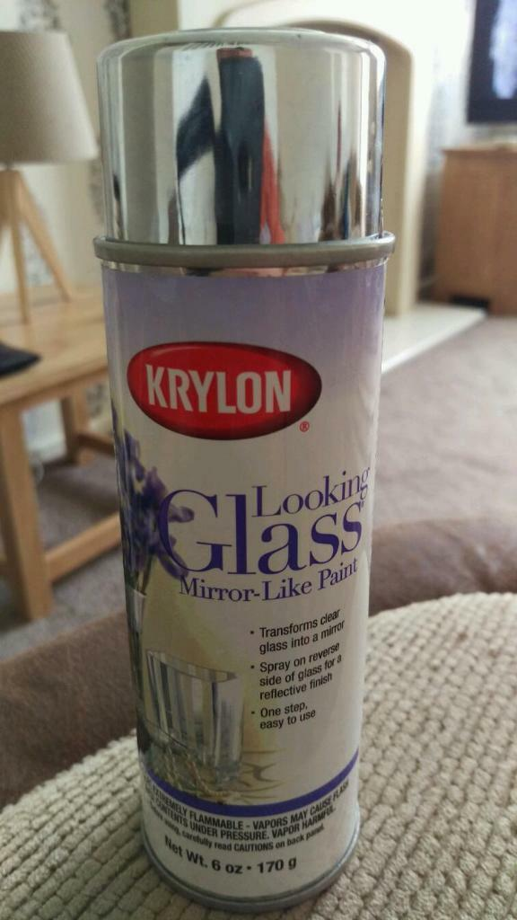 krylon looking glass 6oz mirror effect spray paint in. Black Bedroom Furniture Sets. Home Design Ideas