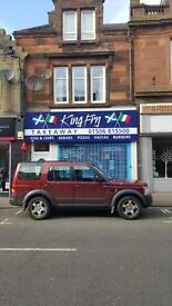 Kebab and fish and chip shop to rent