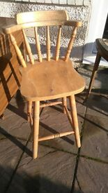Wooden breakfast bar chair for sale